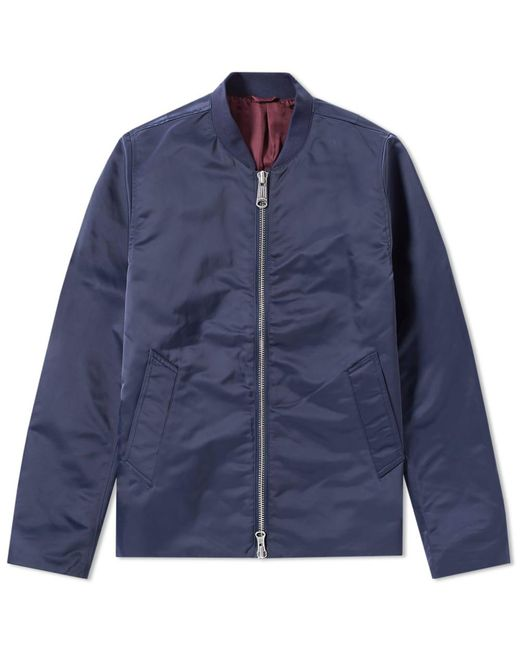 Saturdays NYC - Blue Julian Satin Jacket for Men - Lyst