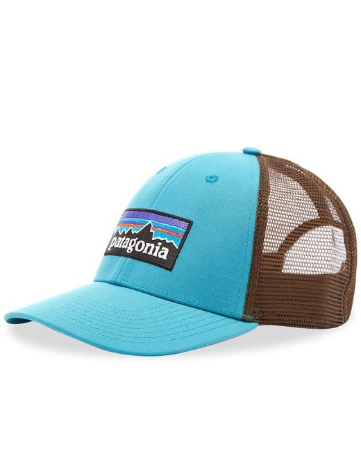 Patagonia Blue P-6 Logo Lopro Trucker Cap for men