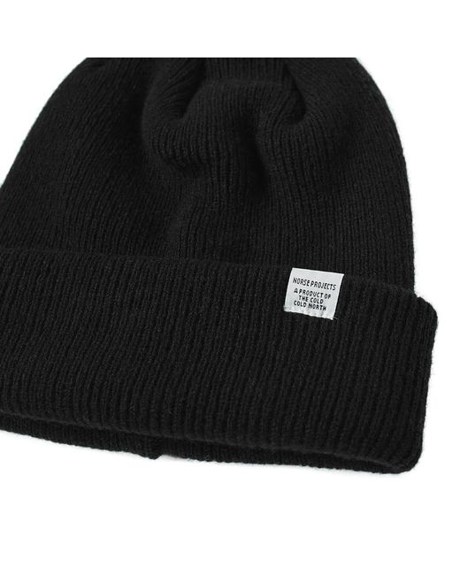 45c65a00ac6 ... Norse Projects - Black Beanie for Men - Lyst