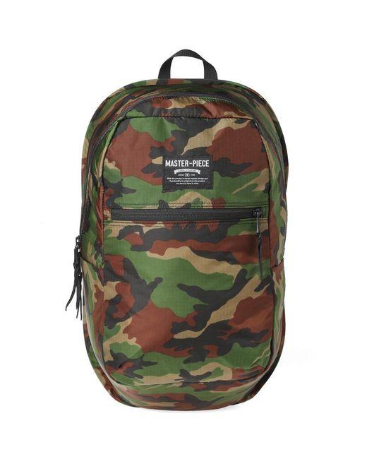 Master Piece - Green Pop 'n' Pack Backpack for Men - Lyst
