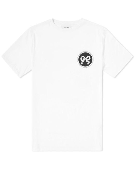 Soulland - White Ribbon Tee for Men - Lyst