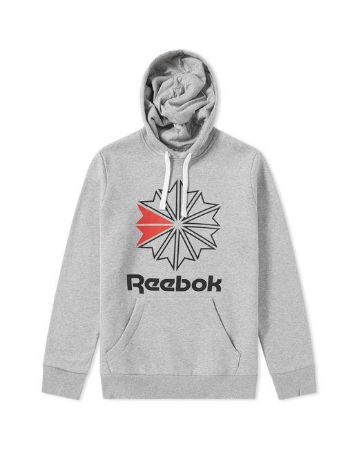 Reebok - Gray Retro Starcrest Popover Hoody for Men - Lyst