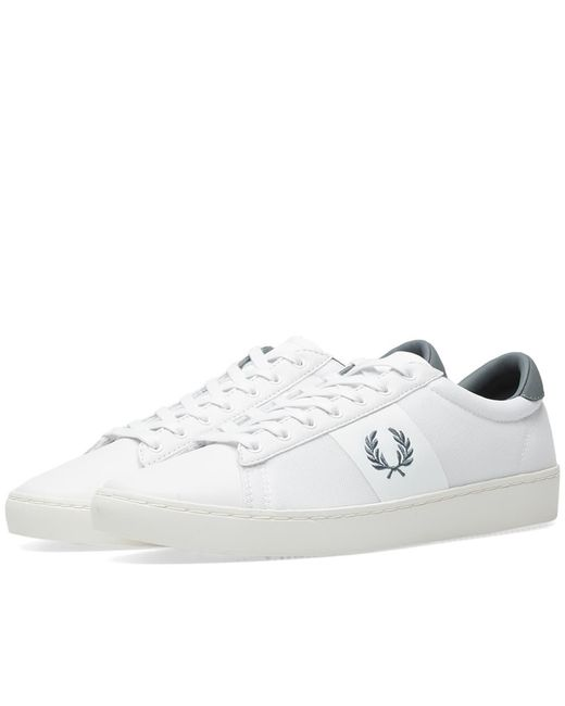 a6f5555989911 Fred Perry Authentic - White Fred Perry Spencer Mesh Leather Sneaker for  Men - Lyst ...