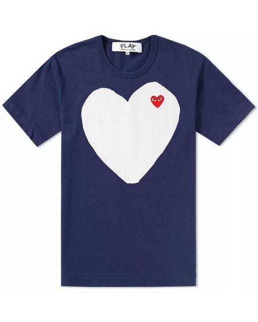 Play Comme des Garçons - Blue Comme Des Garcons Play Solid Heart Logo Tee for Men - Lyst