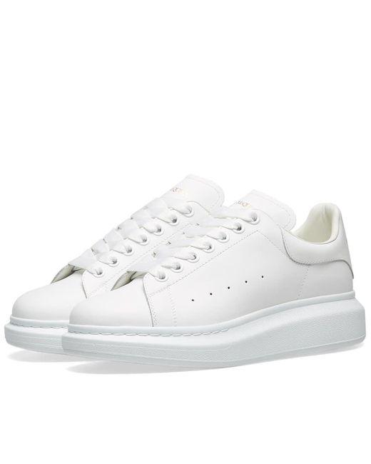 Alexander McQueen - White Heel Tab Wedge Sole Sneaker for Men - Lyst