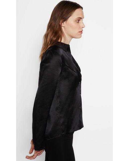 Equipment selah silk shirt in black lyst for Equipment black silk shirt