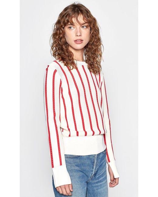 094262e7d911 Equipment - Multicolor Amrit Crewneck Long-sleeve Striped Rib-knit Sweater  - Lyst ...