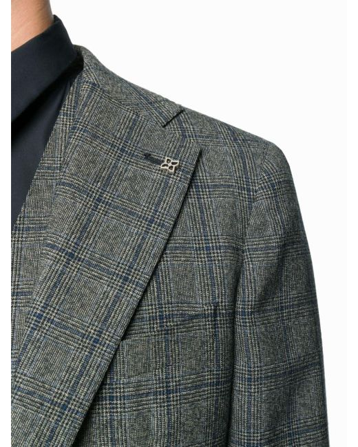 3fb1f2865c35 Tagliatore Plaid Three-piece Suit in Gray for Men - Save 6% - Lyst