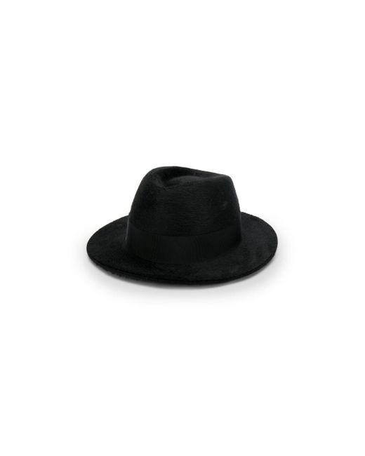 Saint Laurent Black Classic Trilby Hat