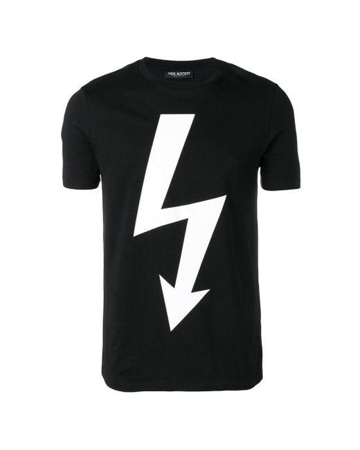 4e401baab Neil Barrett Lightning Bolt T-shirt in Black for Men - Save 39% - Lyst