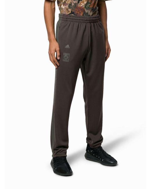 e8273766 ... Adidas - Brown Burgundy Calabasas Stripe Print Sweat Pants for Men -  Lyst ...