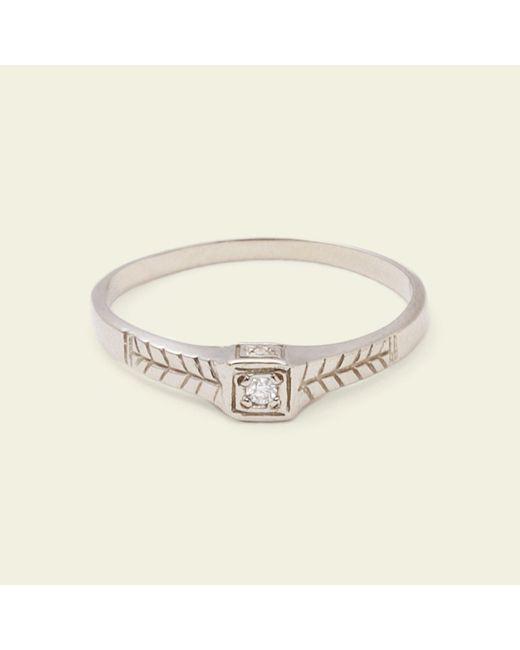 Erica Weiner - Metallic Tiniest Diamond Ring (14k White Gold) - Lyst