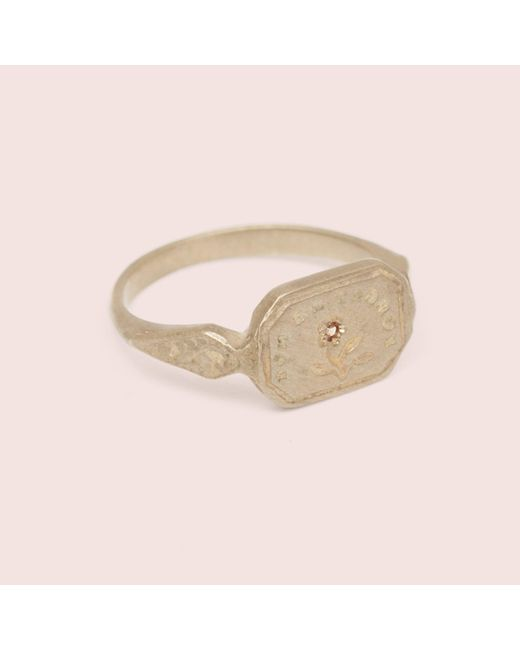 "Erica Weiner | Metallic Wax Seal Ring - ""forget Me Not"" 