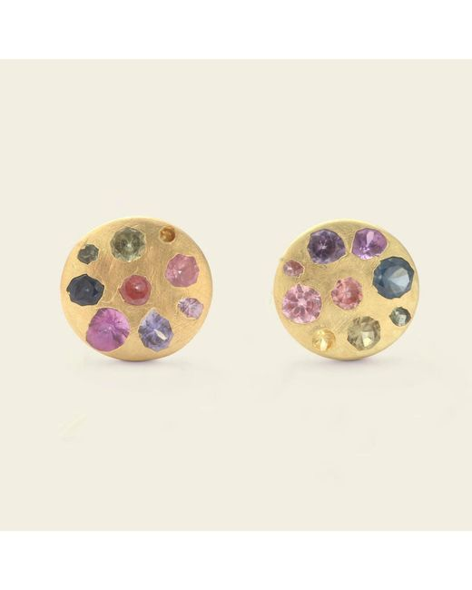 Erica Weiner - Multicolor Watercolor Palette Disc Studs - Lyst