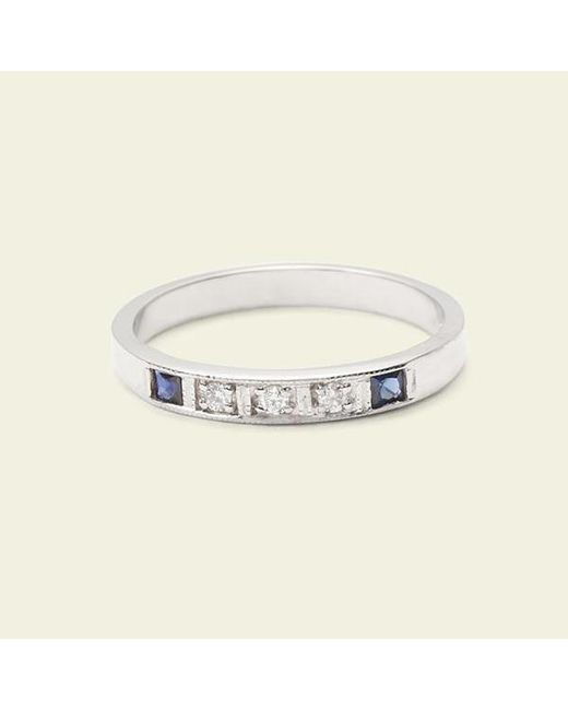 Erica Weiner - Metallic Esther Ring (white Gold, Sapphires) - Lyst