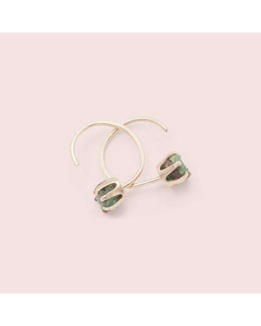 Erica Weiner | Pink Rough Gem Half-hoops (emerald) | Lyst