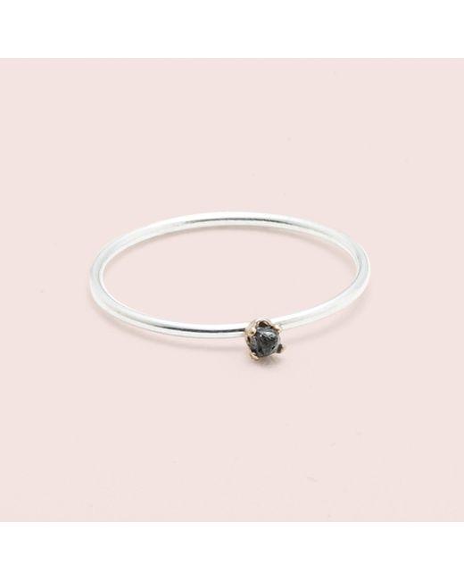 Erica Weiner - Metallic Diamondz & Pearlz Ring (black Diamond, Silver) - Lyst