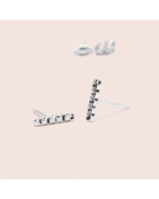 Erica Weiner | Metallic Chain Line Earrings (silver) | Lyst