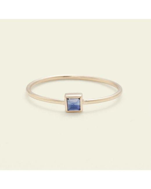 Erica Weiner - Metallic Pyramid Ring (sapphire) - Lyst