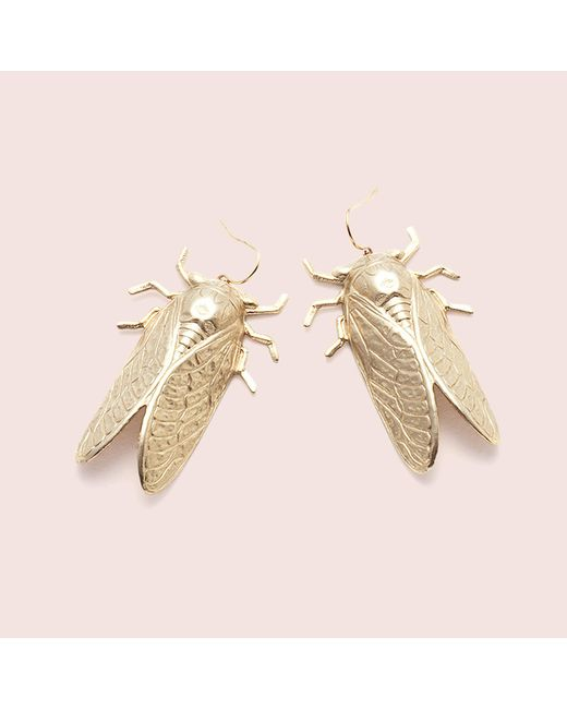 Erica Weiner - Metallic Cicada Earrings - Lyst