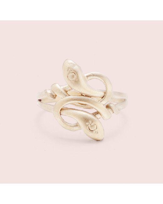 Erica Weiner | Metallic Sssnakey Ring | Lyst