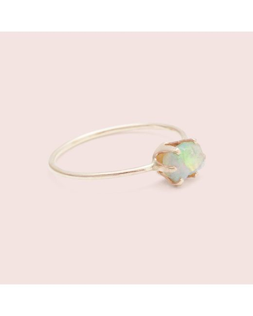 Erica Weiner - Pink Rough Gem Ring (opal) - Lyst