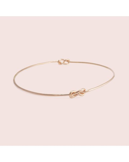 Erica Weiner - Metallic Infinity Knot Bracelet (rose Gold Fill) - Lyst