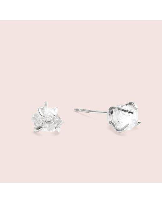 Erica Weiner Metallic Herkimer Diamond Earrings Silver Lyst