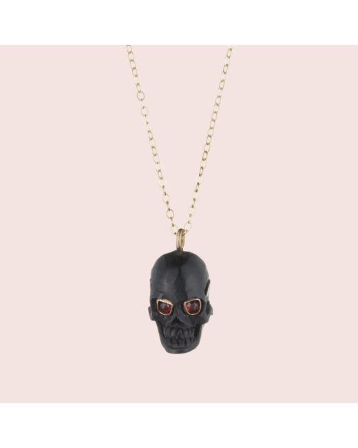 Erica Weiner | Memento Mori Skull Amulet (black) | Lyst