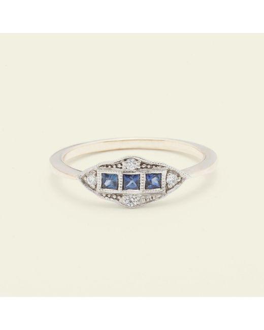 Erica Weiner - Metallic Machine Age Ring (sapphire) - Lyst