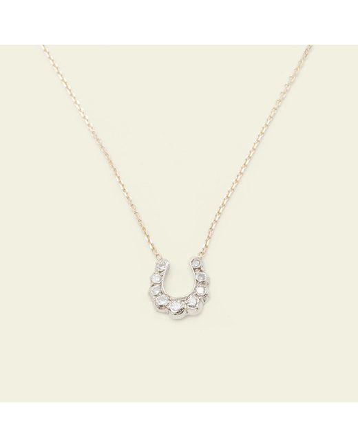 Erica Weiner - Metallic Horseshoe Necklace - Lyst
