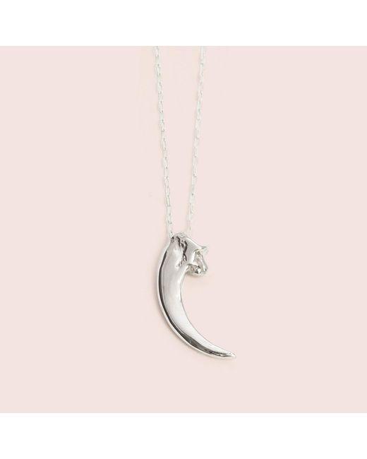 Erica Weiner - Metallic Raptor Talon Necklace (silver) - Lyst