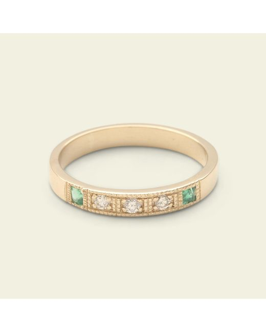 Erica Weiner - Metallic Esther Ring (yellow Gold, Emeralds) - Lyst
