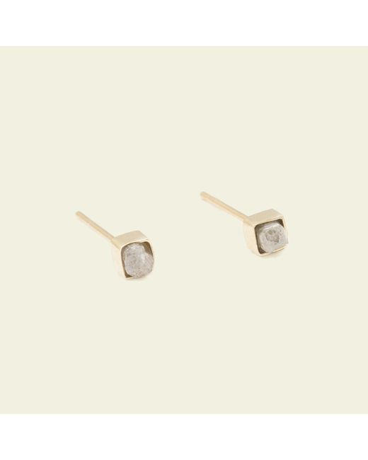 Erica Weiner - Metallic Rough Diamond Cube Earrings - Lyst