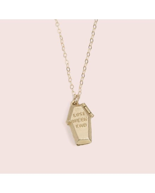Erica Weiner - Metallic Lost Weekend Locket (brass) - Lyst