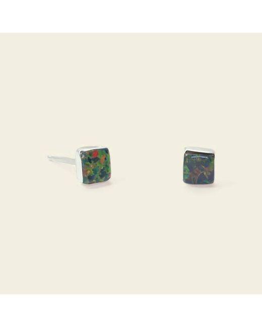 Erica Weiner - Isosceles Opal Earrings (black) - Lyst
