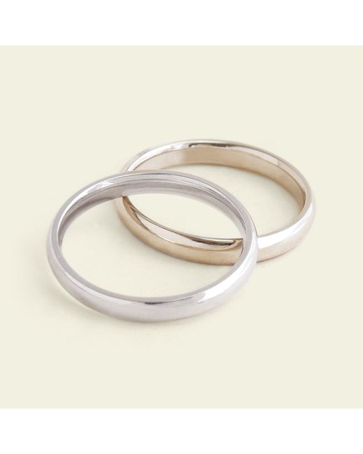 Erica Weiner - Metallic Domed 3mm Recycled Gold Band - Lyst