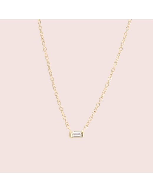 Erica Weiner - Multicolor Diamond Baguette Necklace (yellow Gold) - Lyst
