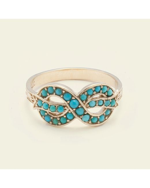 Erica Weiner - Blue Bow Ring (turquoise) - Lyst