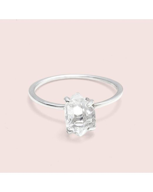 Erica Weiner - Metallic Herkimer Diamond Solitaire Ring (silver, Mini) - Lyst
