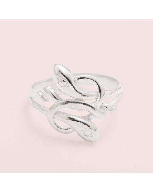 Erica Weiner | Metallic Sssnakey Ring (silver) | Lyst