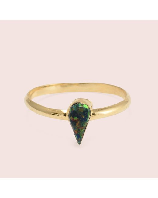 Erica Weiner | Black Golden Teardrop Opal Rings | Lyst