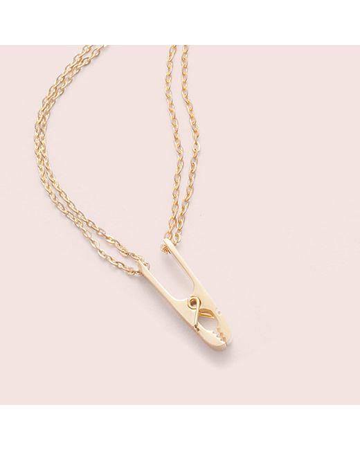Erica Weiner - Metallic Roach Clip Necklace - Lyst