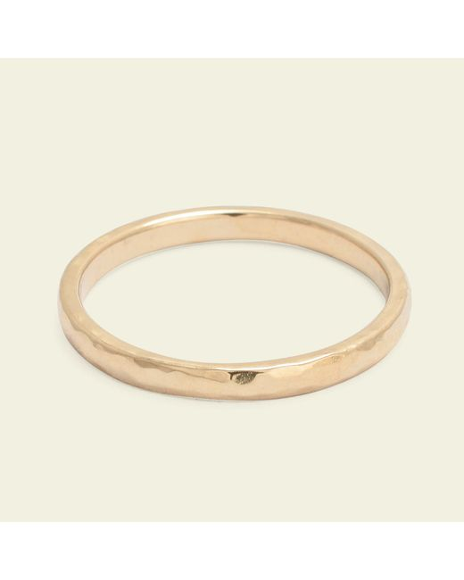 Erica Weiner - Metallic Hammered 2mm Recycled Gold Band - Lyst