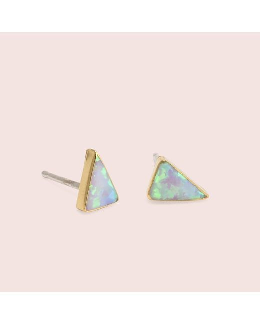Erica Weiner - Multicolor Golden Isosceles Opal Studs (white) - Lyst