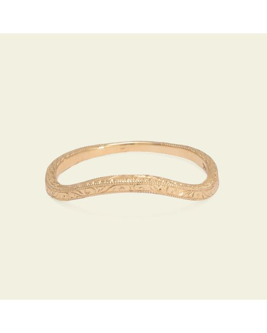 Erica Weiner | Metallic Engraved Curved Band | Lyst