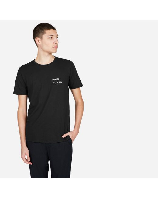 Everlane - Black The Human Unisex Crew In Small Print - Lyst