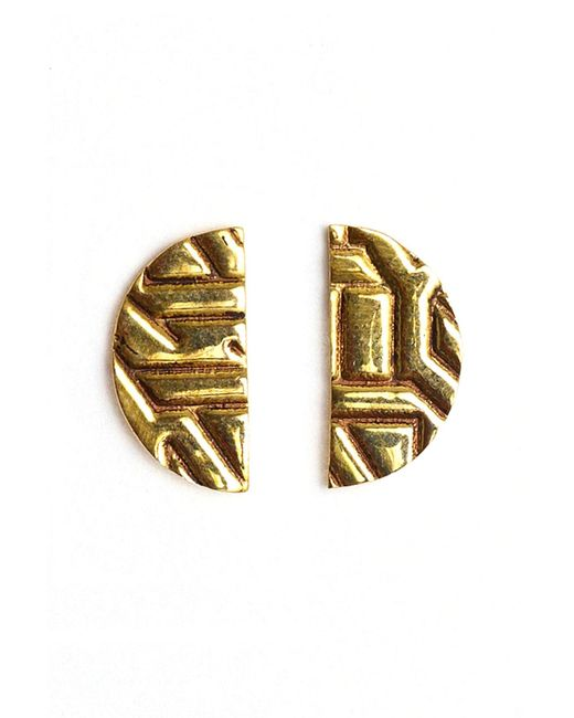 Winifred Grace | Multicolor Semi Circle Stud Earrings | Lyst