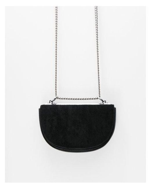 Express - Black Half Moon Chain Strap Cross Body Bag - Lyst