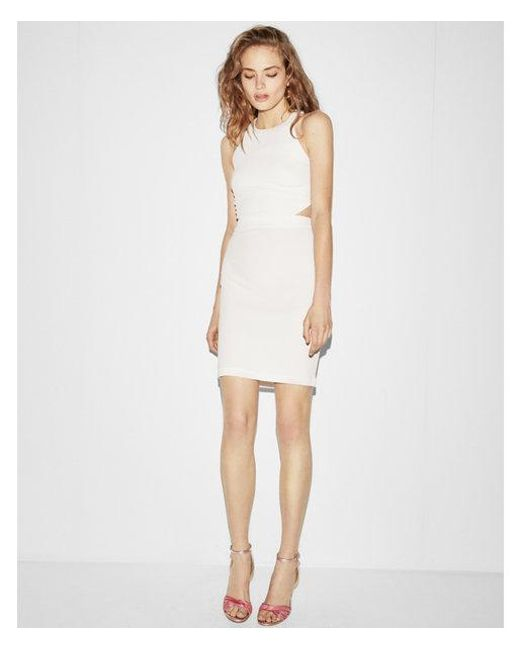 Express - White Cut-out Back Mini Dress - Lyst